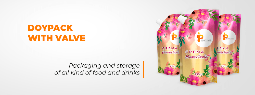 Doypack And Storage Of All Kind Of Food And Drinks With Valve  InkartPack